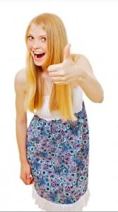 金髮女孩說讚