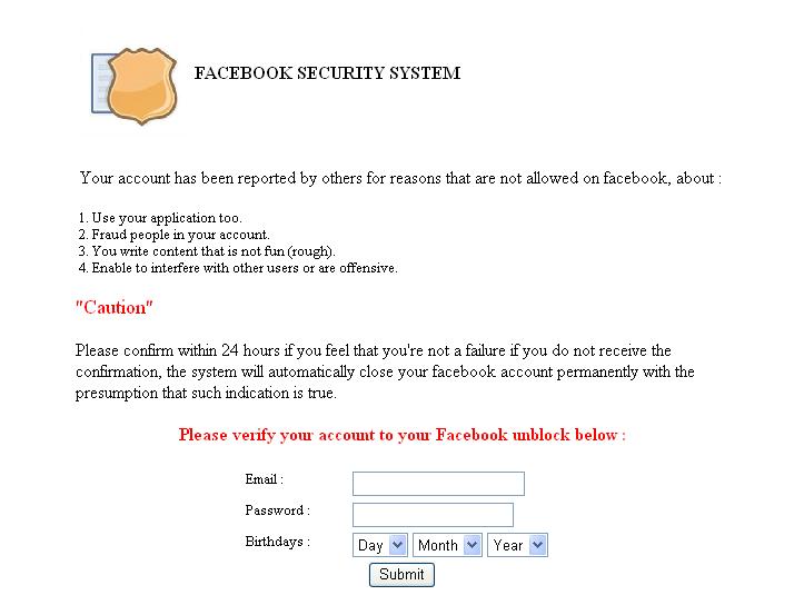 """""""Facèboðk警告BLOCKING FACEBOOK,即時確認!""""帳號24小時內即將被鎖?是網路釣魚詐騙!"""