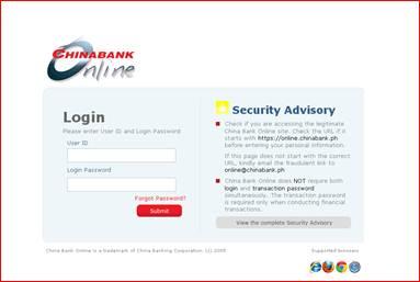 假的CN Bank登入網頁