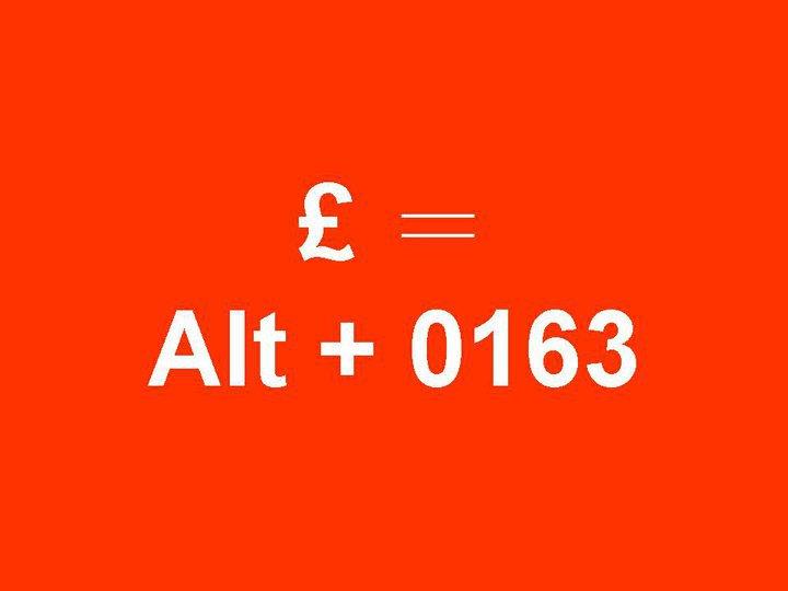 alt0613  £ 符號 密碼