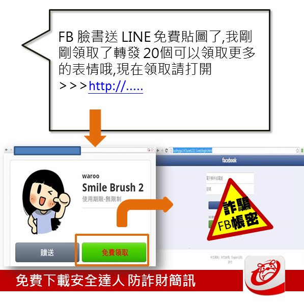 LINE貼圖詐騙 超萌少女smile brush2