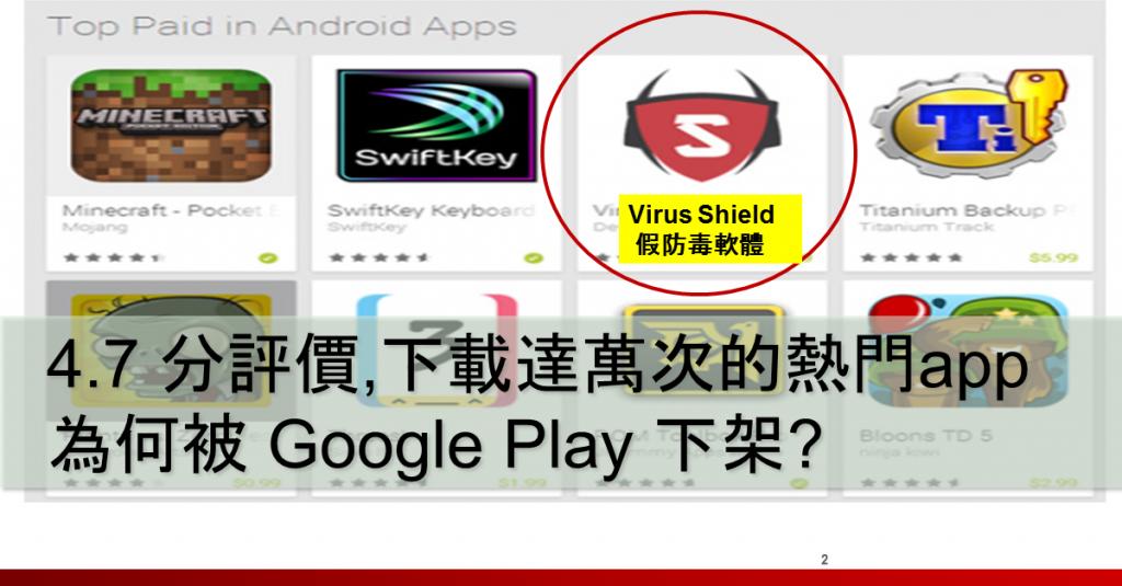 手機 假防毒軟體 Fake app