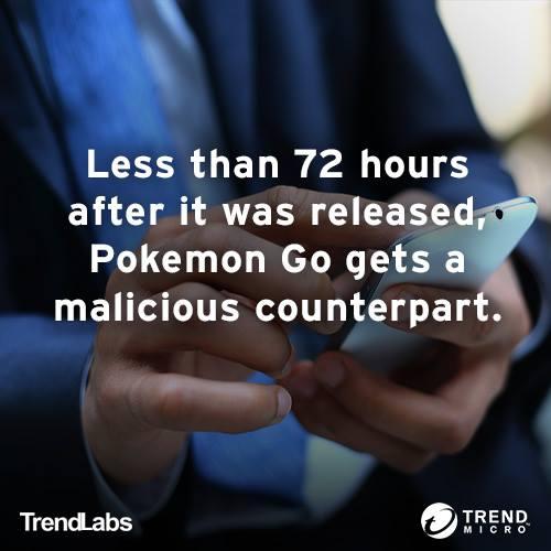 熱門手機遊戲 Pokemon Go (精靈寶可夢)出現惡意冒牌版本