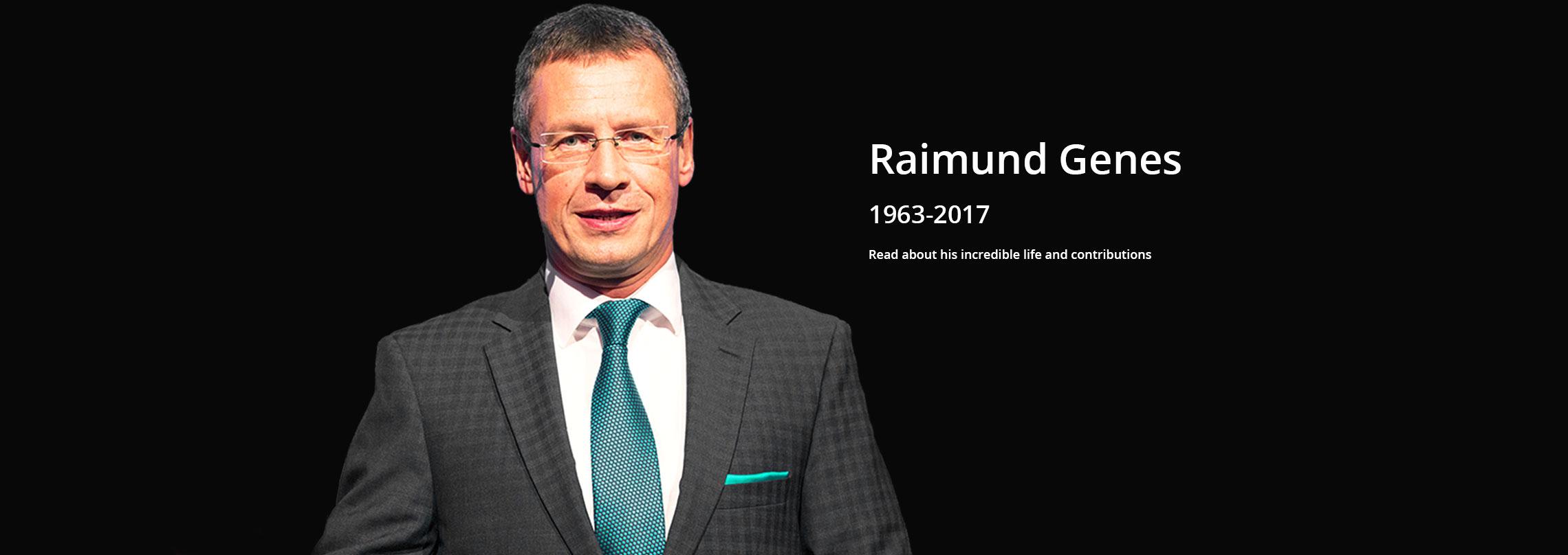2017年3月24日趨勢科技的技術長 Raimund Genes在德國家驟逝,得年 54 歲