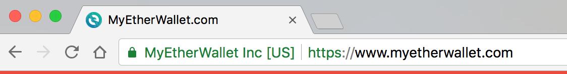 一個 HTTPS 的連線畫面應該長得像這樣,出現綠色的組織名稱,並且有一把鎖頭在最前面