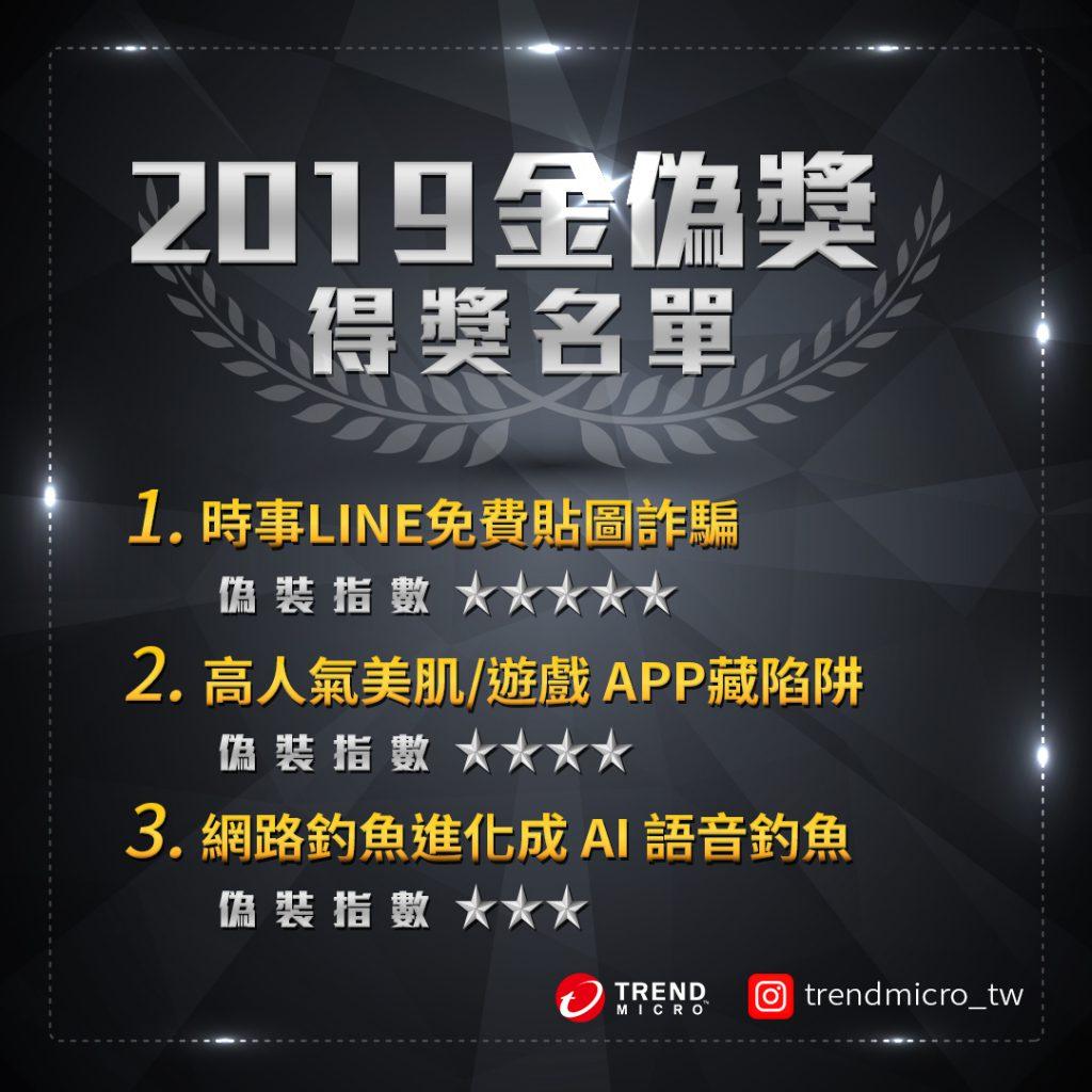 2019 金偽獎得獎名單公布